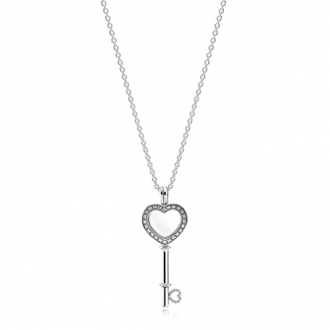 PANDORA Heart Key Locket Necklace - Medium 396581CZ-80