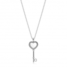 Heart Key Locket Necklace - Medium 396581CZ-80