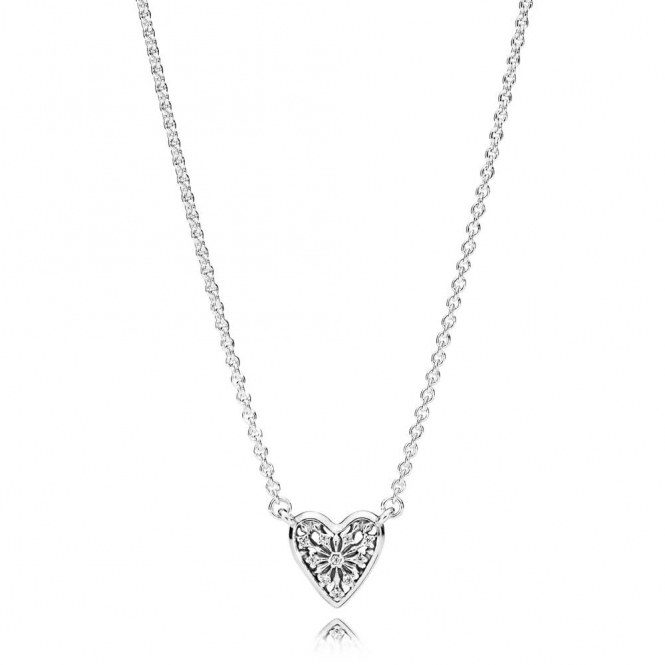 PANDORA Heart of Winter Collier Necklace 396370CZ-45