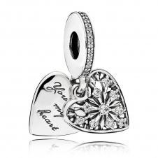 Heart of Winter Pendant Charm 796372CZ