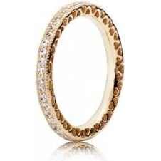 Hearts Eternity Gold Ring 150181CZ