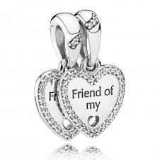 Hearts of Friendship Pendant Charm 792147CZ