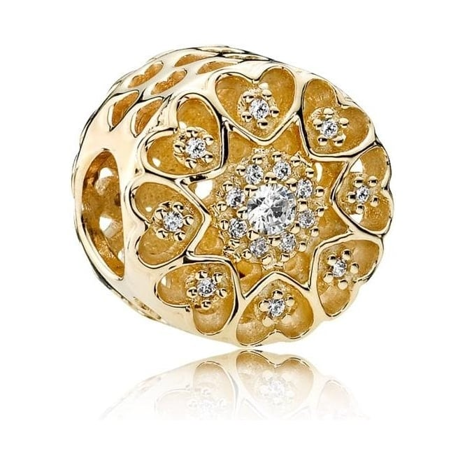 PANDORA Hearts of Gold Charm 750841CZ