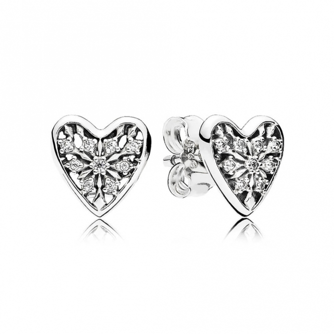 PANDORA Hearts of Winter Stud Earrings 296368CZ