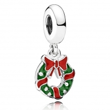 Holiday Wreath Pendant Charm 796362ENMX