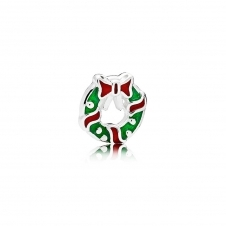 Holiday Wreath Petite Locket Charm 796397ENMX