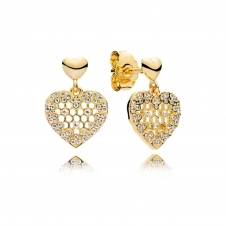 Honeycomb Lace Drop Earrings 267068CZ