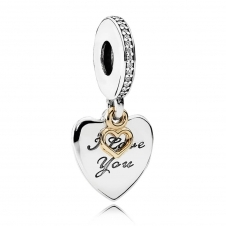 I Love You Forever Pendant Charm 792042CZ
