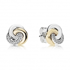 Interlinked Circles Stud Earrings 290741CZ