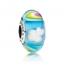Iridescent Rainbow Glass Murano Charm 797013