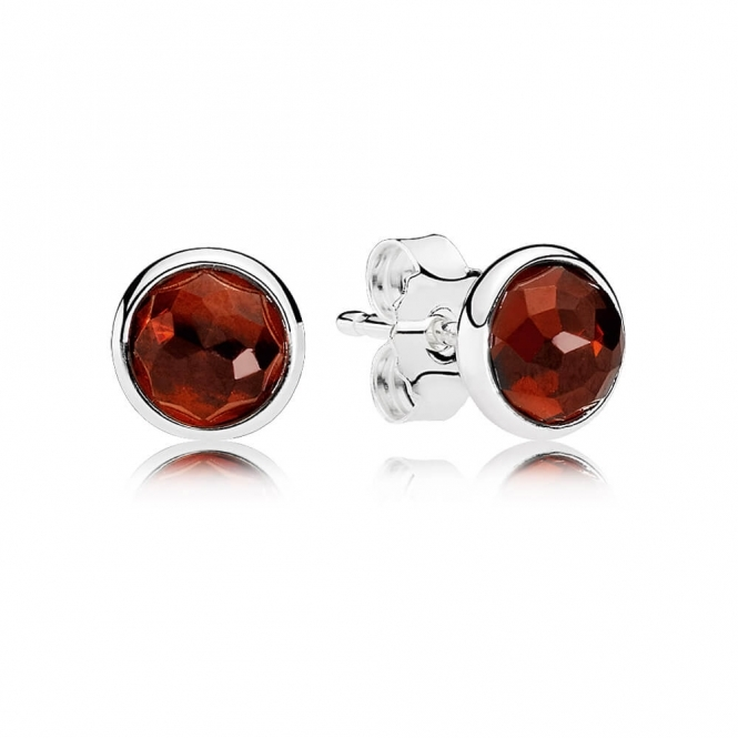 PANDORA January Droplets Stud Earrings 290738GR