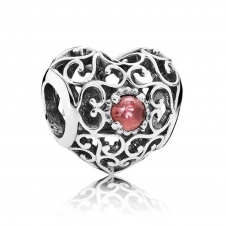 January Heart Birthstone Charm 791784GR