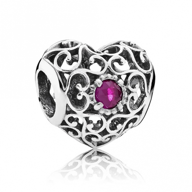 PANDORA July Heart Birthstone Charm 791784SRU