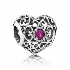 July Heart Birthstone Charm 791784SRU