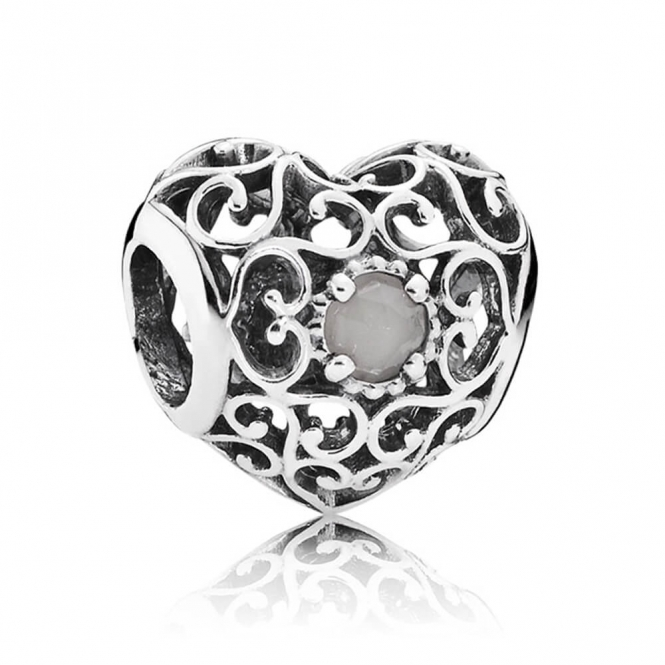 PANDORA June Heart Birthstone Charm 791784MSG