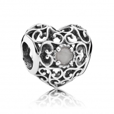June Heart Birthstone Charm 791784MSG