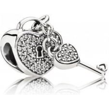 Lock of Love Charm 791429CZ
