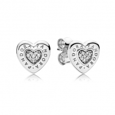 Logo Heart Stud Earrings 297382CZ