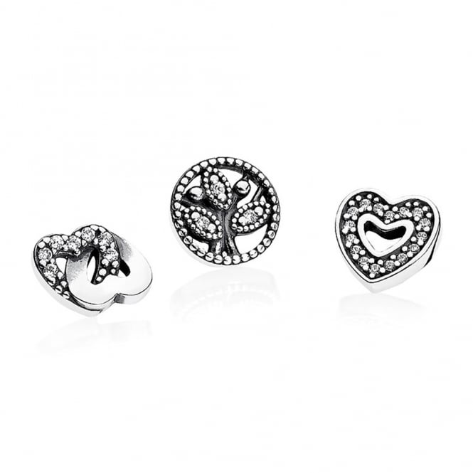 PANDORA Love and Family Petites Locket Charm 792022CZ