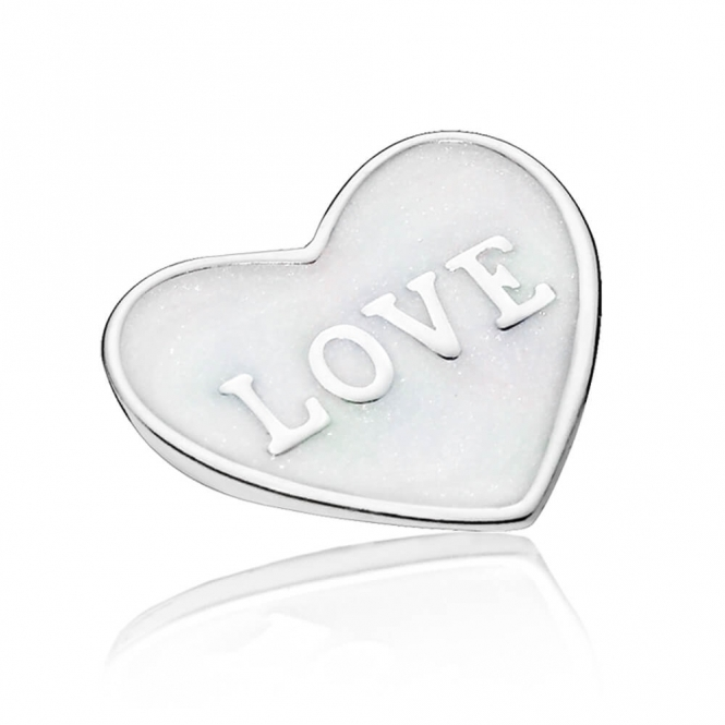 PANDORA Love Heart Locket Plate - Small 792112EN23