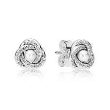 Luminous Love Knots Stud Earrings 290740WCP