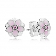 Magnolia Bloom Stud Earrings 290739PCZ