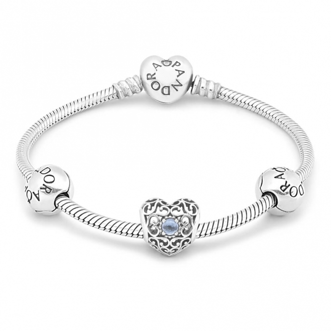PANDORA March Birthstone Bracelet B800464