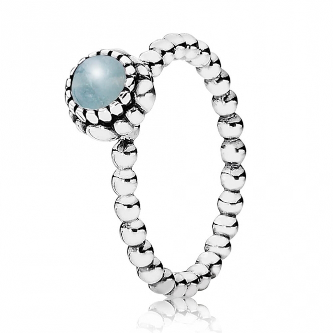 PANDORA March Birthstone Ring 190854AQ