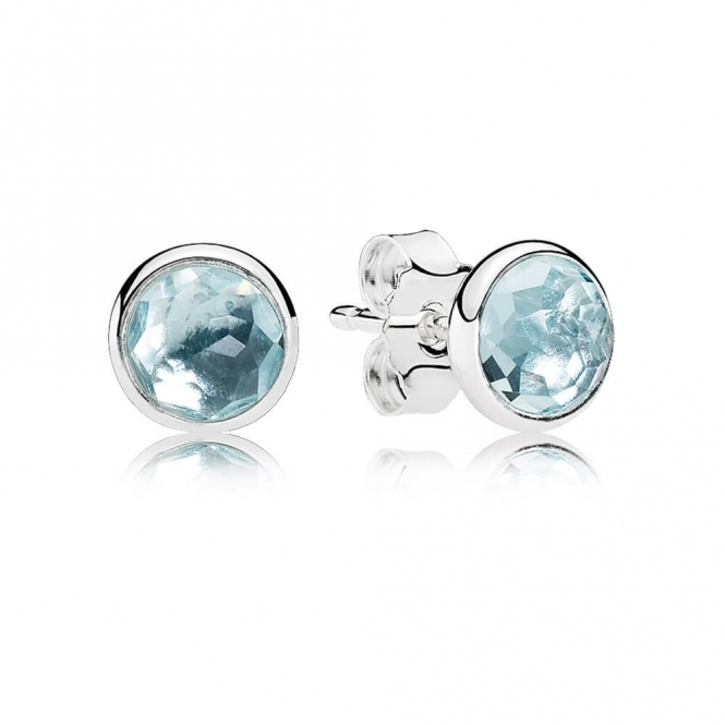 PANDORA March Droplets Stud Earrings 290738NAB