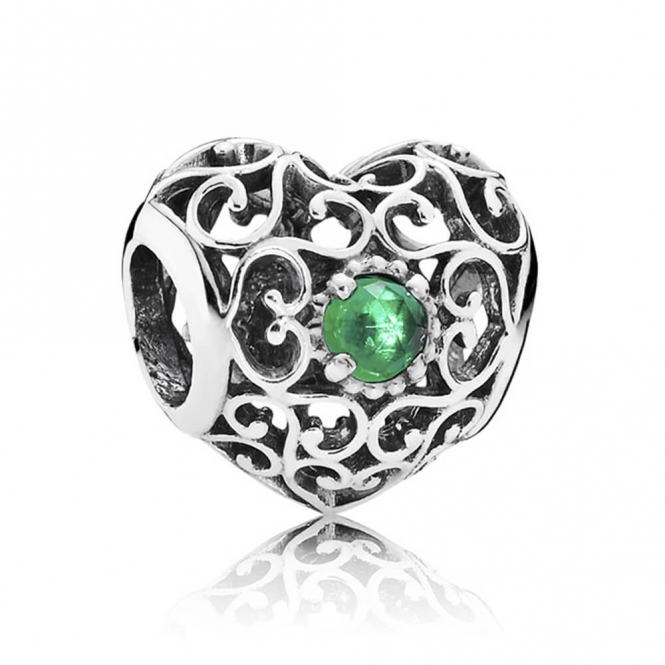 PANDORA May Heart Birthstone Charm 791784NRG