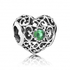 May Heart Birthstone Charm 791784NRG