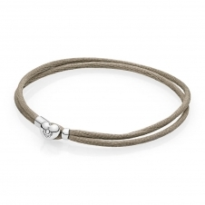 Moments Fabric Cord Bracelet - Grey Green 590749CGG