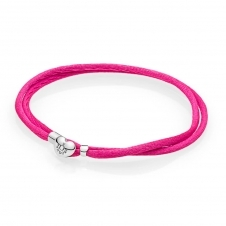 Moments Fabric Cord Bracelet - Hot Pink 590749CPH