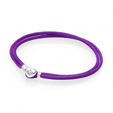 Moments Fabric Cord Bracelet - Purple 590749CPE