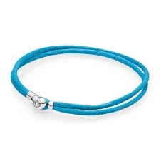 Moments Fabric Cord Bracelet - Turquoise 590749CTQ