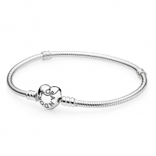 Moments Silver Bracelet with Heart Clasp 590719