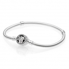 Moments Silver Bracelet with Poetic Blooms Clasp 590744CZ