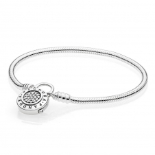 Moments Smooth Silver Bracelet - Signature Padlock 597092CZ6