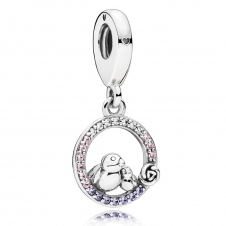 Mother and Baby Bird Pendant Charm 797060NPRMX