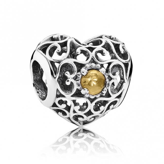 PANDORA November Heart Birthstone Charm 791784CI