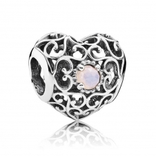 October Heart Birthstone Charm 791784NOP