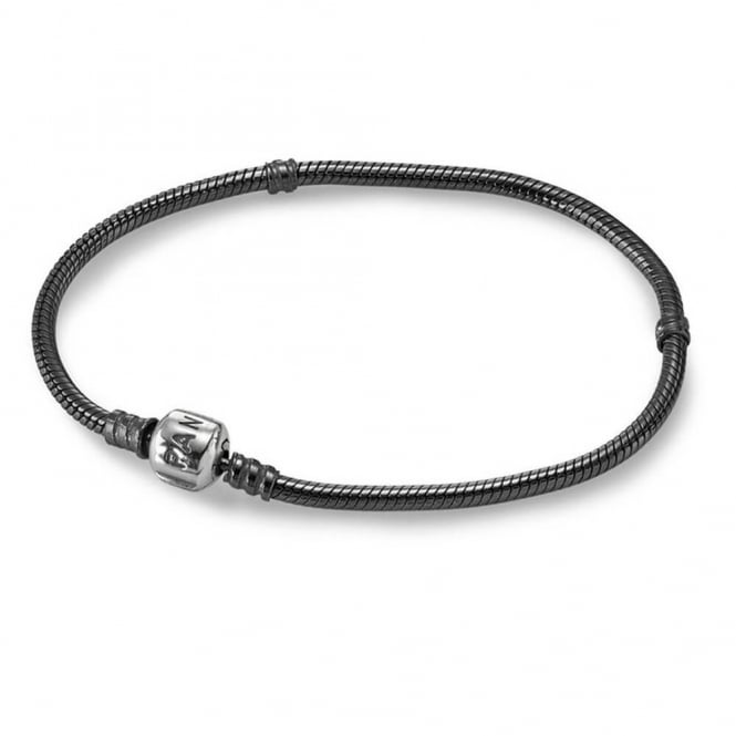 PANDORA Oxodized Bracelet with Silver Clasp 590702OX