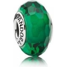 Pandora Green Faceted Murano Charm 791619
