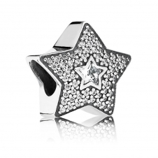 Pave Wishing Star Charm 791384CZ