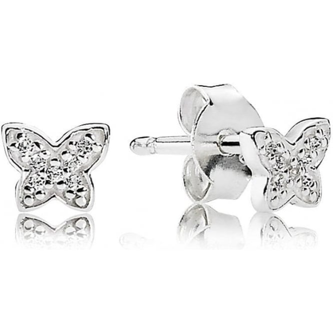 PANDORA Petite Butterfly Stud Earrings 290572CZ