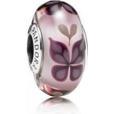 Pink Butterfly Kisses Murano Charm 791621