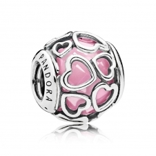 Pink Encased in Love Charm 792036PCZ