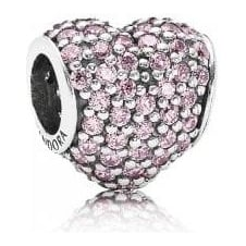 Pink Pave Heart Charm 791052PCZ