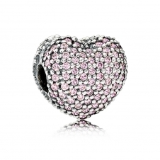 Pink Pave Open My Heart Clip Charm 791427PCZ