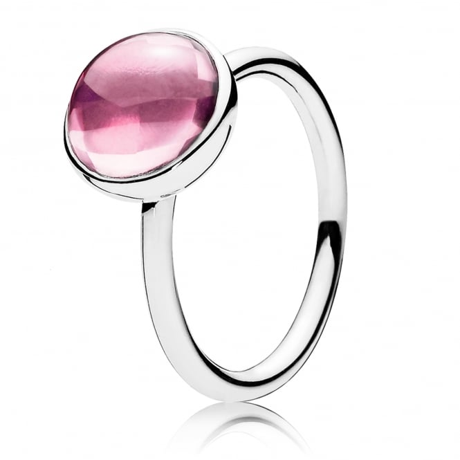 PANDORA Pink Poetic Droplet Ring 190982PCZ